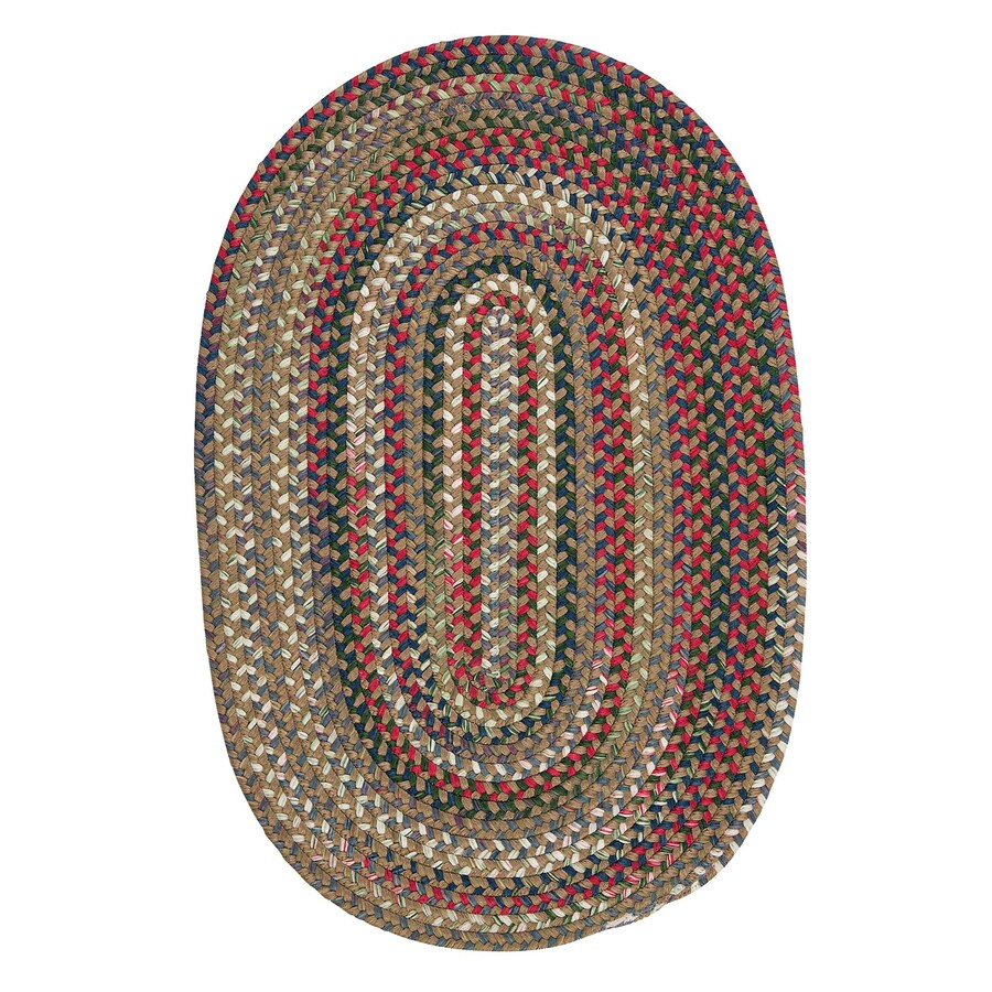 Colonial Mills Chestnut Knoll Straw Beige Oval Indoor Braided Area Rug (Common: 5 x 8; Actual: 5-ft W x 8-ft L)