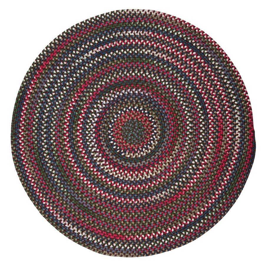 Colonial Mills Chestnut Knoll Saddle Brown Round Indoor Braided Area Rug (Common: 4 x 4; Actual: 4-ft W x 4-ft L x 4-ft Dia)