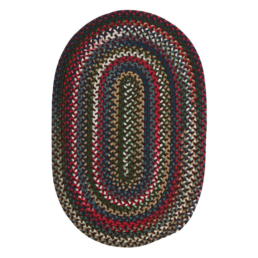Colonial Mills Chestnut Knoll Saddle Brown Oval Indoor Braided Area Rug (Common: 4 x 6; Actual: 48-in W x 72-in L)
