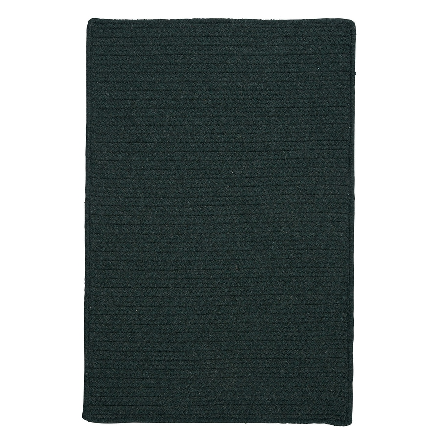 Colonial Mills Courtyard Cypress Green Rectangular Indoor Braided Area Rug (Common: 7 x 9; Actual: 7-ft W x 9-ft L)