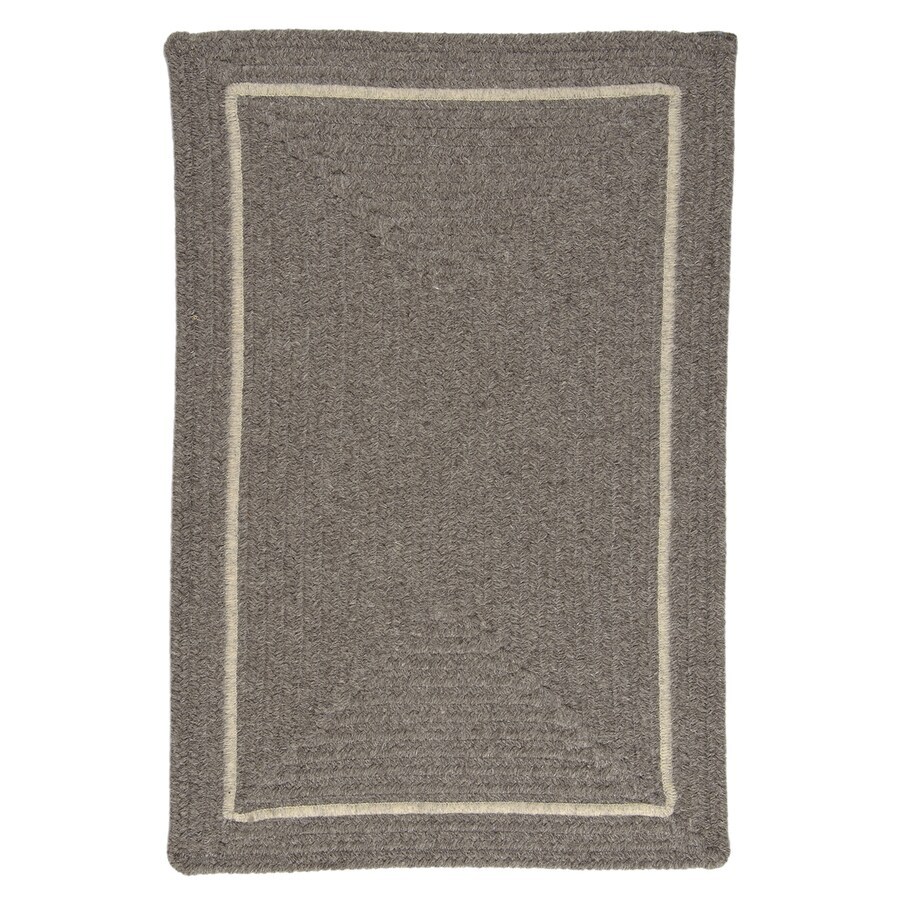 Colonial Mills Shear Natural Rockport Gray Rectangular Indoor Braided Area Rug (Common: 4 x 6; Actual: 4-ft W x 6-ft L)