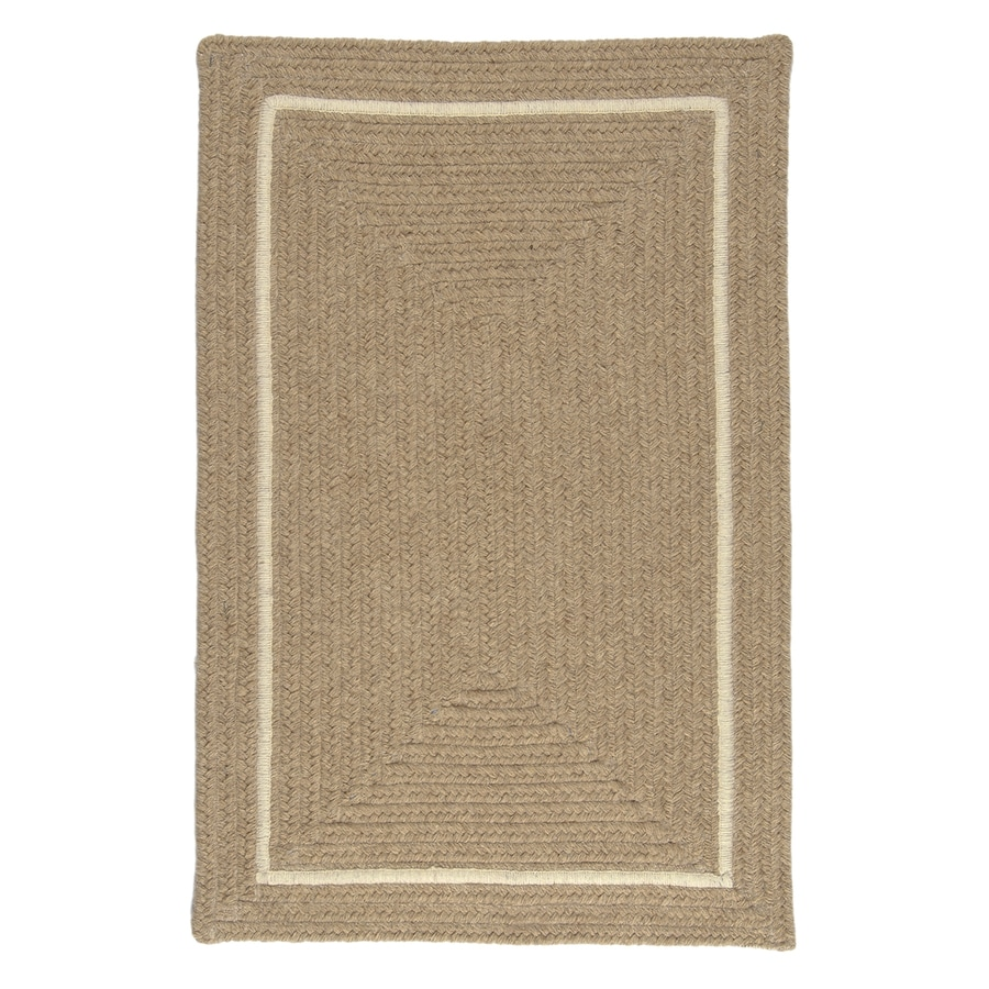 Colonial Mills Shear Natural Muslin Rectangular Indoor Braided Area Rug (Common: 4 x 6; Actual: 4-ft W x 6-ft L)