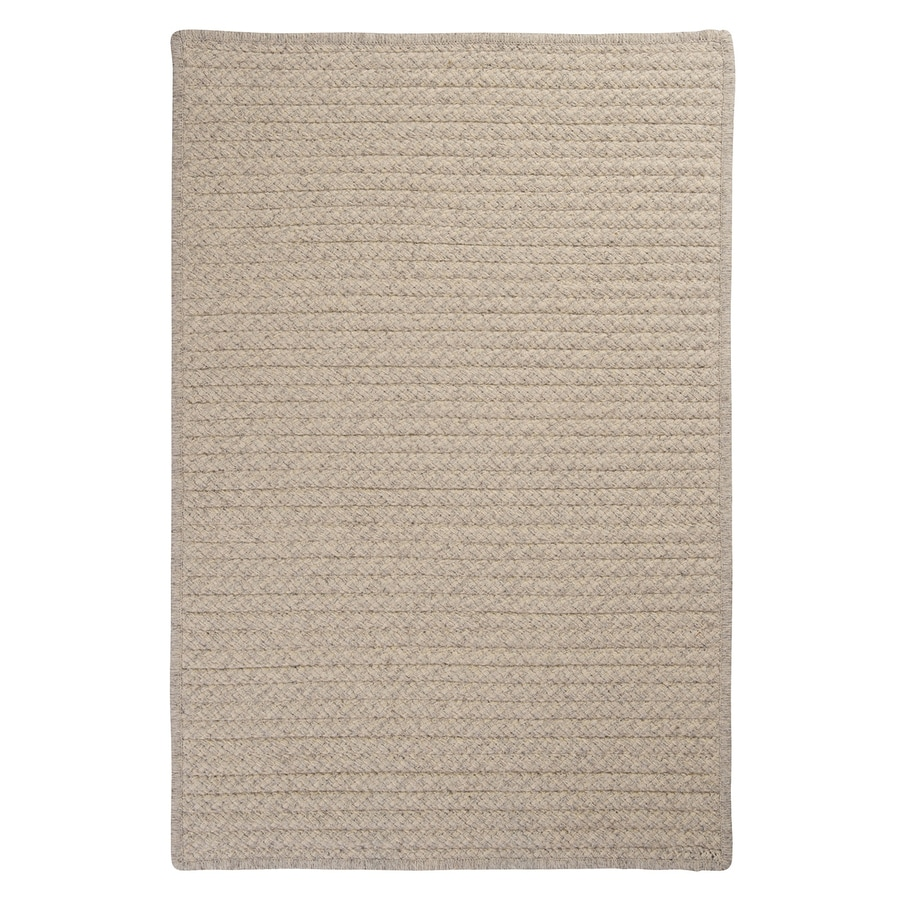 Colonial Mills Natural Wool Houndstooth Cream Rectangular Indoor Braided Throw Rug (Common: 3 x 5; Actual: 3-ft W x 5-ft L)