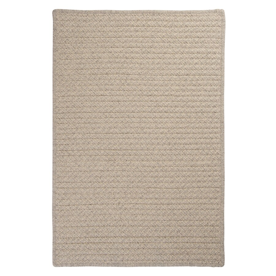 Colonial Mills Natural Wool Houndstooth Cream Rectangular Indoor Braided Area Rug (Common: 5 x 8; Actual: 60-in W x 96-in L)