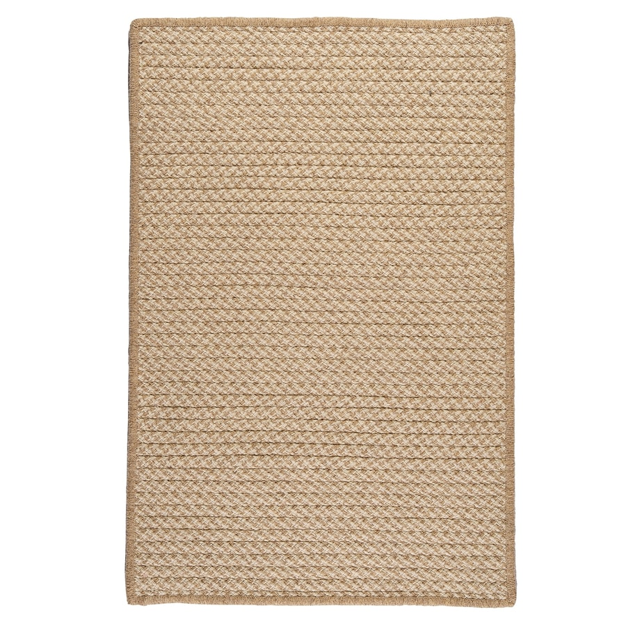 Colonial Mills Natural Wool Houndstooth Tea Rectangular Indoor Braided Area Rug (Common: 12 x 15; Actual: 12-ft W x 15-ft L)