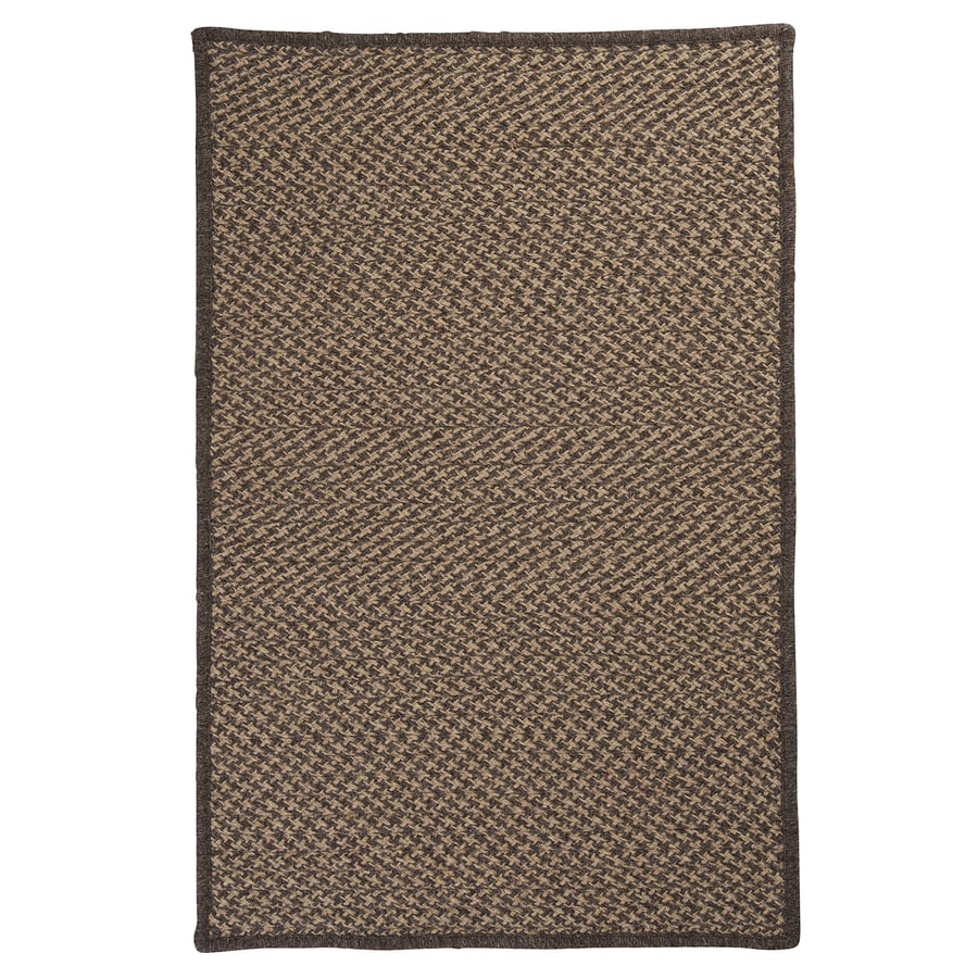 Colonial Mills Natural Wool Houndstooth Caramel Rectangular Indoor Braided Area Rug (Common: 12 x 15; Actual: 144-in W x 180-in L)