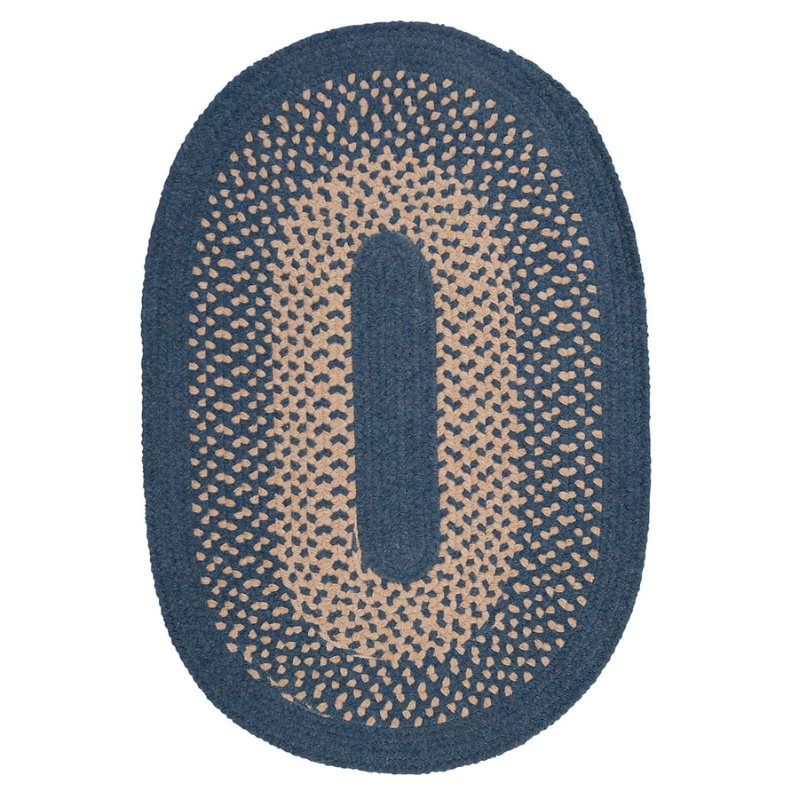 Colonial Mills Jackson Federal Blue Oval Indoor Braided Area Rug (Common: 4 x 6; Actual: 4-ft W x 6-ft L)