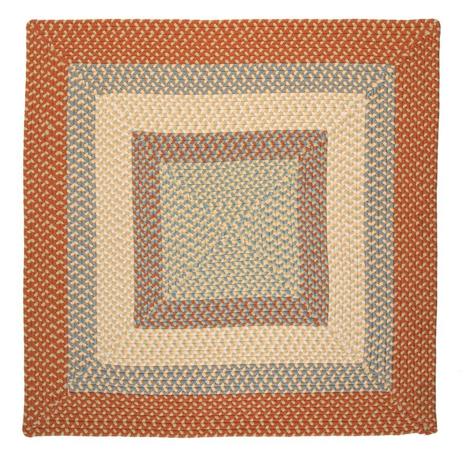 Colonial Mills Montego Tangerine Square Indoor/Outdoor Braided Area Rug (Common: 4 x 4; Actual: 48-in W x 48-in L)