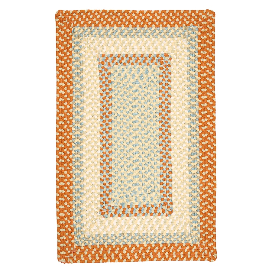 Colonial Mills Montego Tangerine Rectangular Indoor/Outdoor Braided Area Rug (Common: 5 x 8; Actual: 5-ft W x 8-ft L)