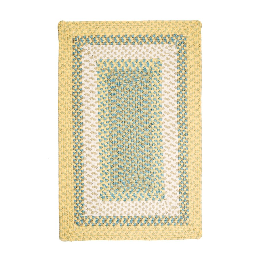 Colonial Mills Montego Sundance Rectangular Indoor/Outdoor Braided Throw Rug (Common: 2 x 3; Actual: 2-ft W x 3-ft L)