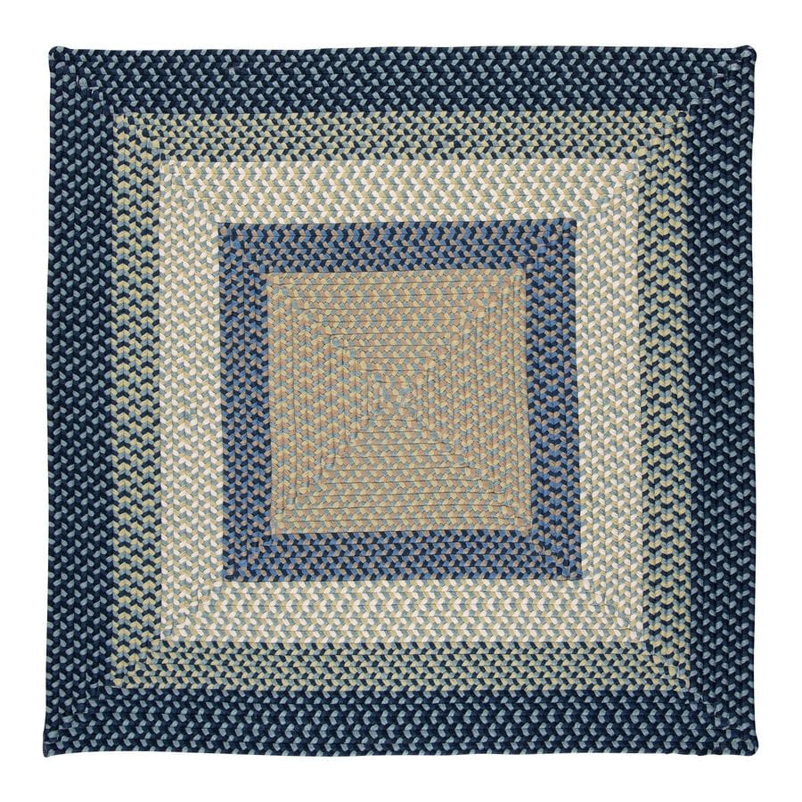 Colonial Mills Montego Blue Burst Square Indoor/Outdoor Braided Area Rug (Common: 4 x 4; Actual: 4-ft W x 4-ft L)