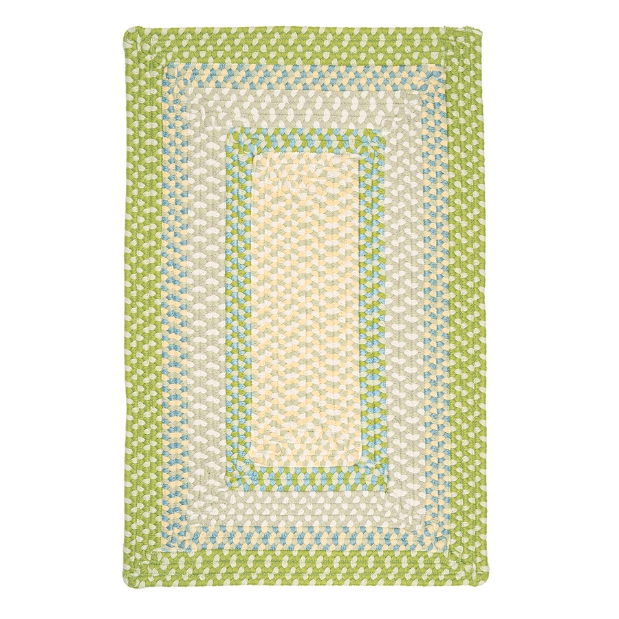 Colonial Mills Montego Lime Twist Rectangular Indoor/Outdoor Braided Area Rug (Common: 4 x 6; Actual: 4-ft W x 6-ft L)