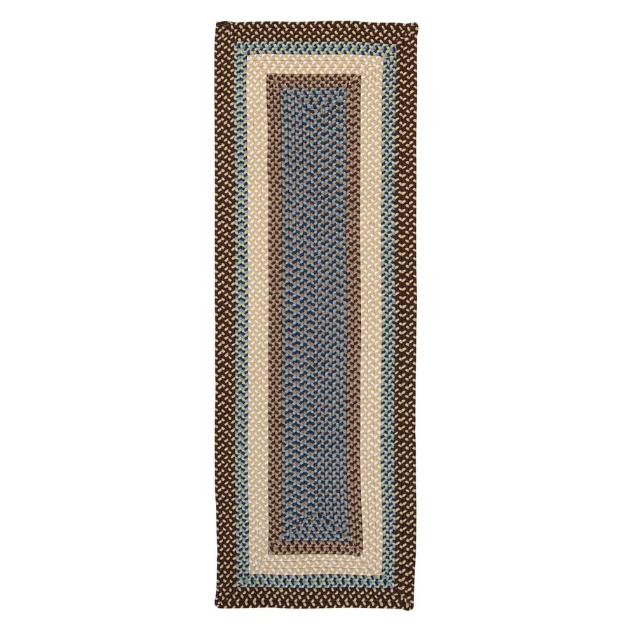 Colonial Mills Montego Bright Brown Rectangular Indoor/Outdoor Braided Runner (Common: 2 x 10; Actual: 2-ft W x 10-ft L)