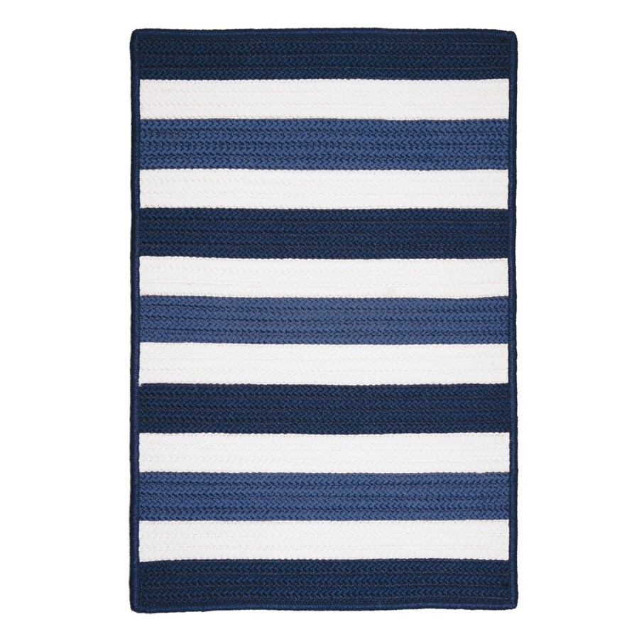 Colonial Mills Portico Nautica Rectangular Indoor/Outdoor Braided Coastal Area Rug (Common: 5 x 8; Actual: 5-ft W x 8-ft L)