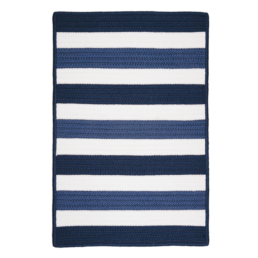 Colonial Mills Portico Nautica Square Indoor/Outdoor Braided Coastal Area Rug (Common: 6 x 6; Actual: 6-ft W x 6-ft L)