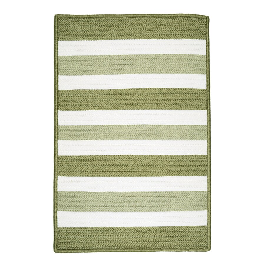 Colonial Mills Portico Edamame Rectangular Indoor/Outdoor Braided Area Rug (Common: 10 x 13; Actual: 120-in W x 156-in L)