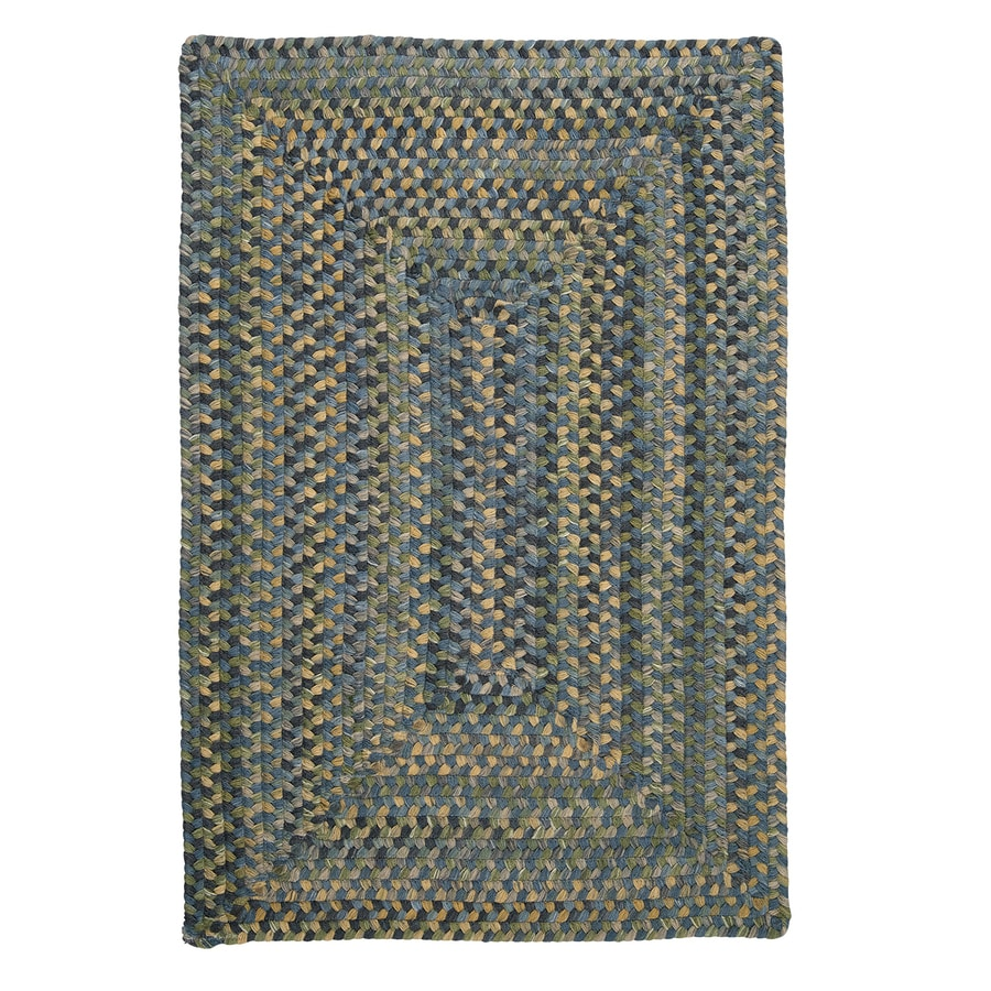 Colonial Mills Ridgevale Whipple Blue Rectangular Indoor Braided Area Rug (Common: 8 x 11; Actual: 8-ft W x 11-ft L)