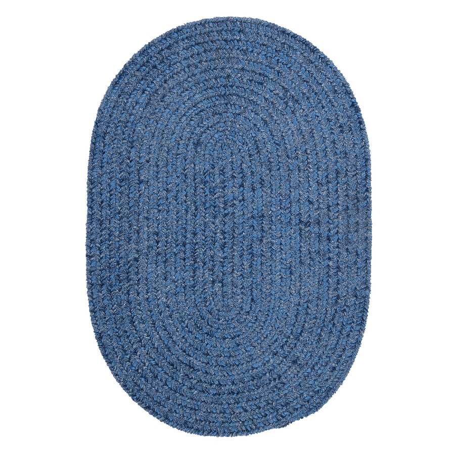 Colonial Mills Spring Meadow Petal Blue Oval Indoor/Outdoor Braided Area Rug (Common: 5 x 8; Actual: 5-ft W x 8-ft L)