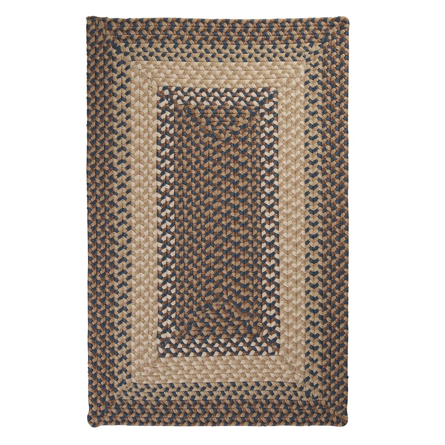 Colonial Mills Tiburon Stone Blue Rectangular Indoor/Outdoor Braided Area Rug (Common: 4 x 6; Actual: 4-ft W x 6-ft L)