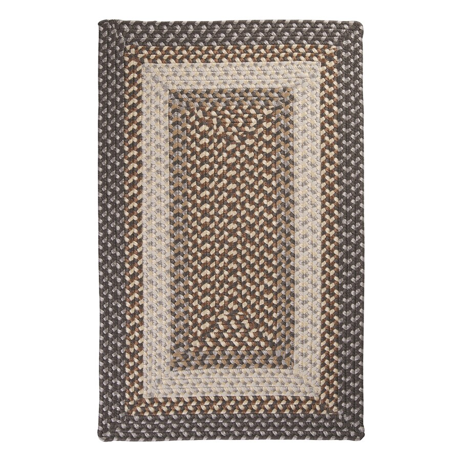 Colonial Mills Tiburon Misted Gray Rectangular Indoor/Outdoor Braided Area Rug (Common: 4 x 6; Actual: 4-ft W x 6-ft L)
