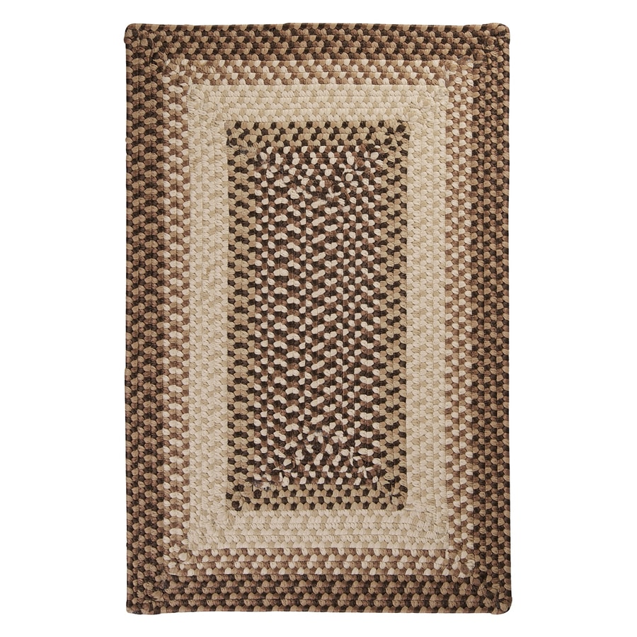 Colonial Mills Tiburon Sandstorm Square Indoor/Outdoor Braided Area Rug (Common: 4 x 4; Actual: 4-ft W x 4-ft L)