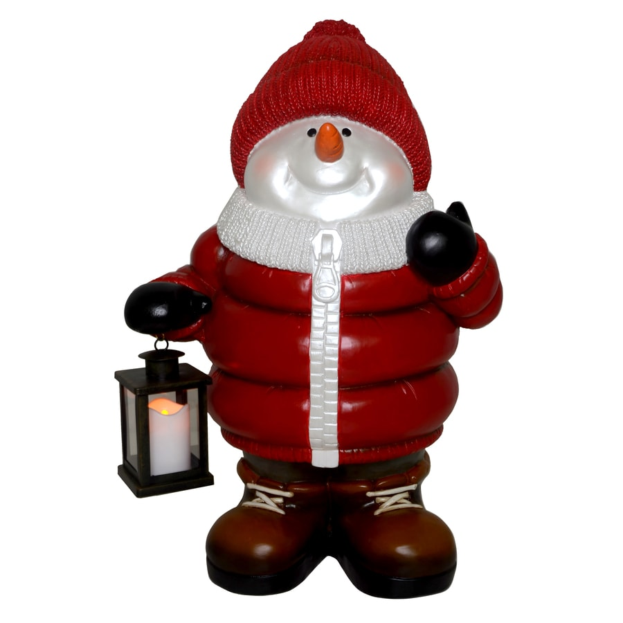 Holiday Living Pre-Lit Snowman Sculpture with Constant Warm White LED Lights