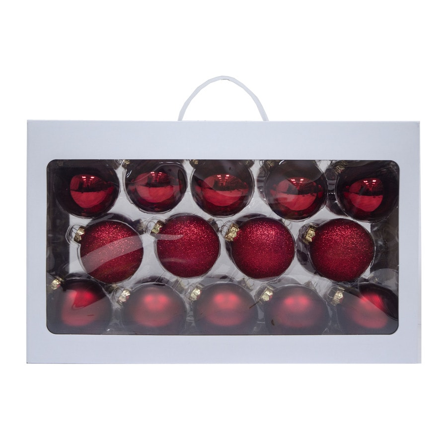 Holiday Living 28-Pack Red Ball Ornament Set