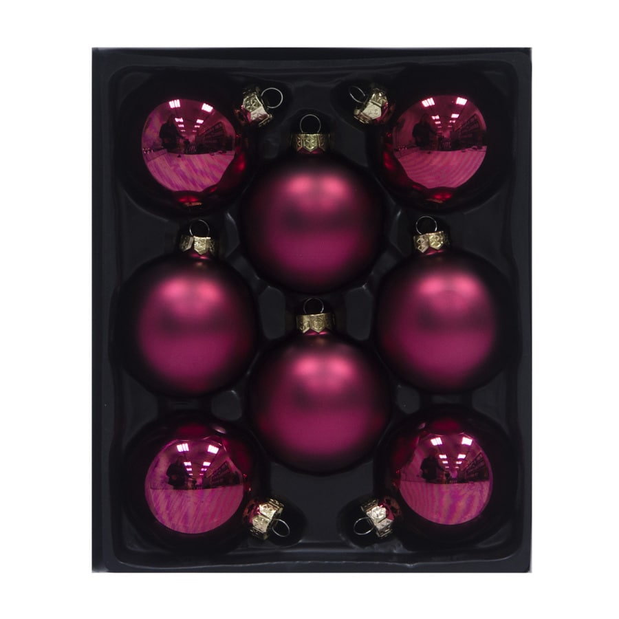 Holiday Living 8-Pack Red Ball Ornament Set