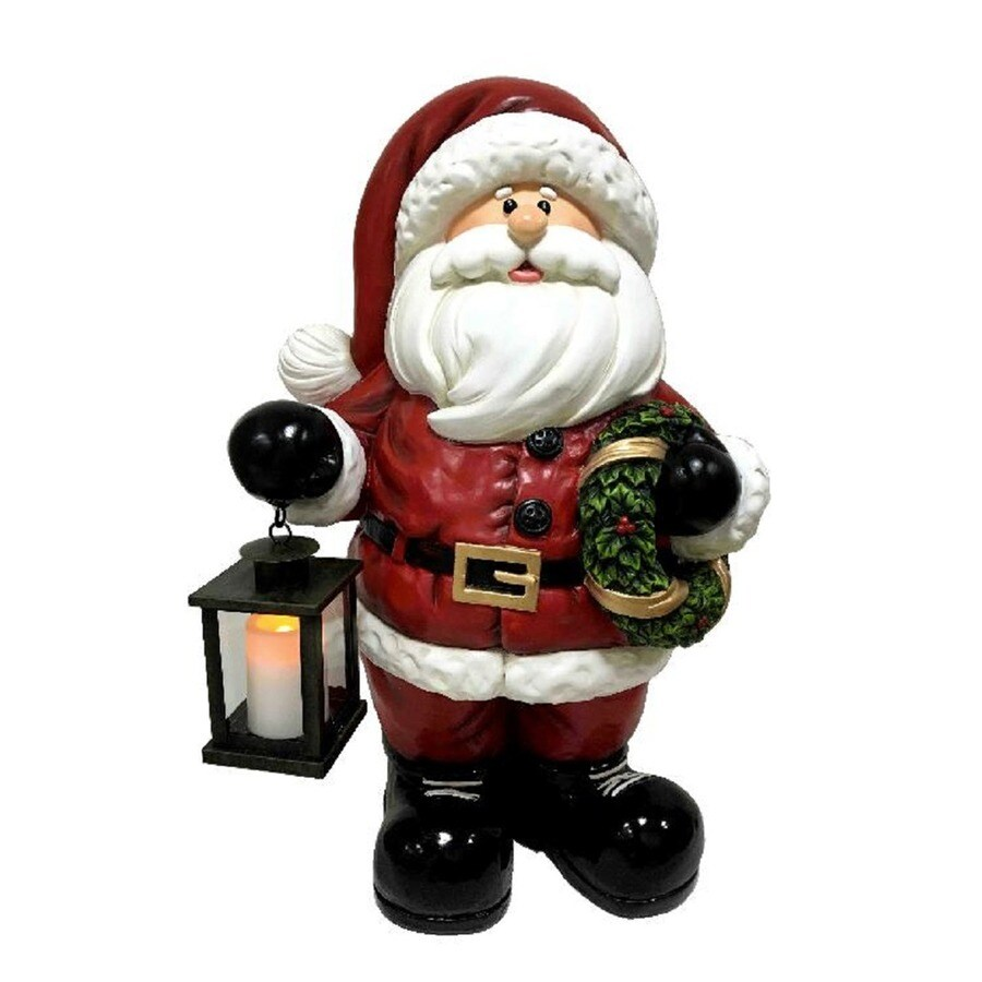 Holiday Living 2.13-ft Freestanding Santa Sculpture with Constant White LED Lights
