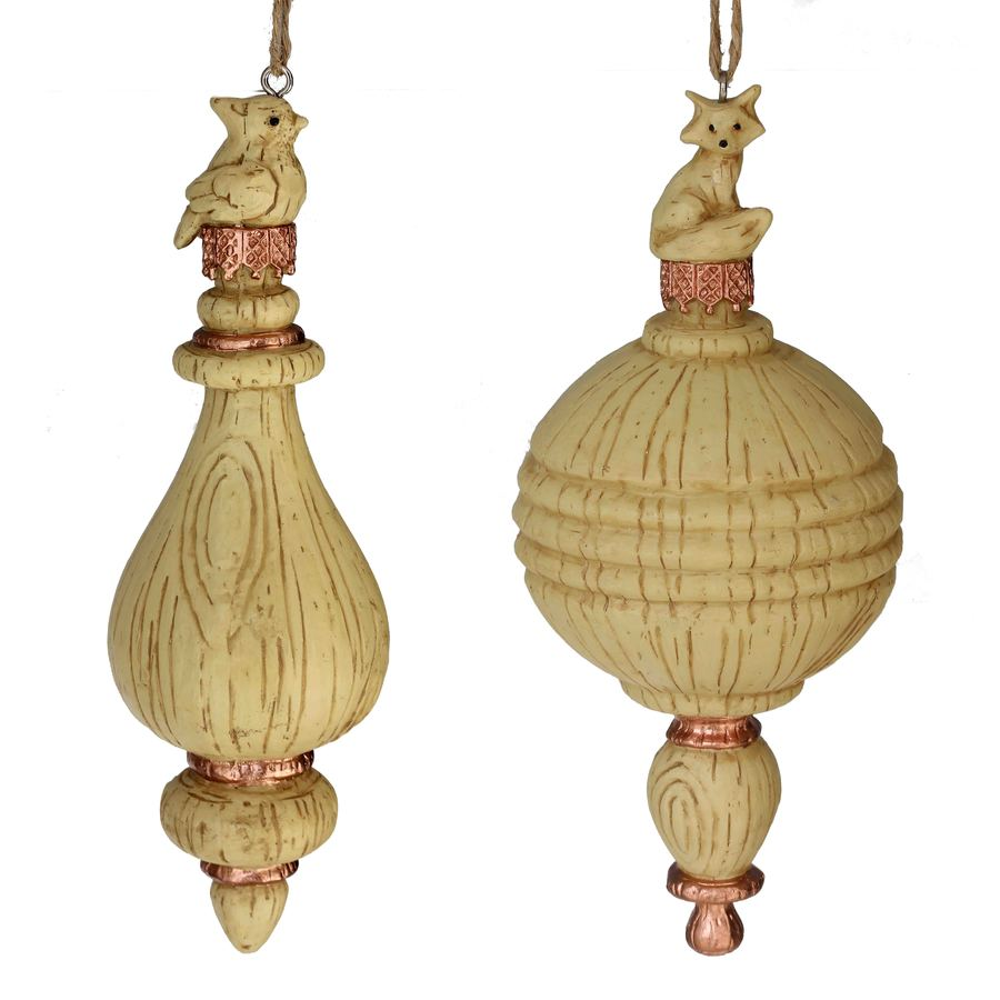 Holiday Living 2-Pack Brown Finial Ornament Set