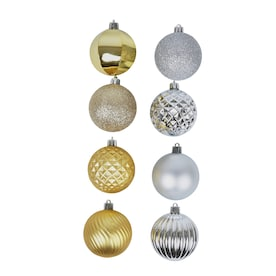 Holiday Living 101-Pack Multiple Colors/Finishes Ornament Set