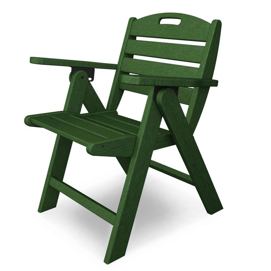 Shop POLYWOOD Nautical Green Plastic Folding Patio Dining Chair At