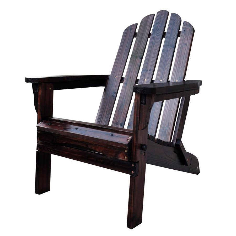 Shop Shine Company Marina Burnt Brown Cedar Folding Patio Adirondack Chair At