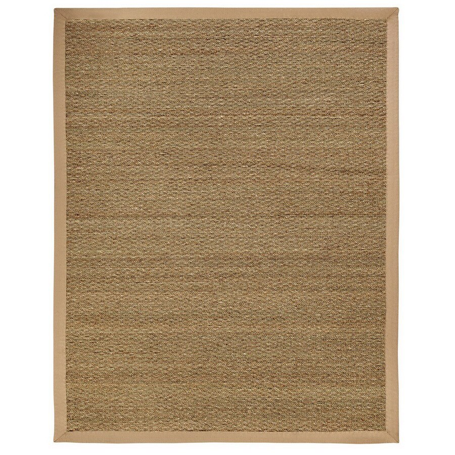 Anji Mountain Sabertooth Rectangular Border Seagrass Area Rug (Common: 9-ft x 12-ft; Actual: 9-ft x 12-ft)