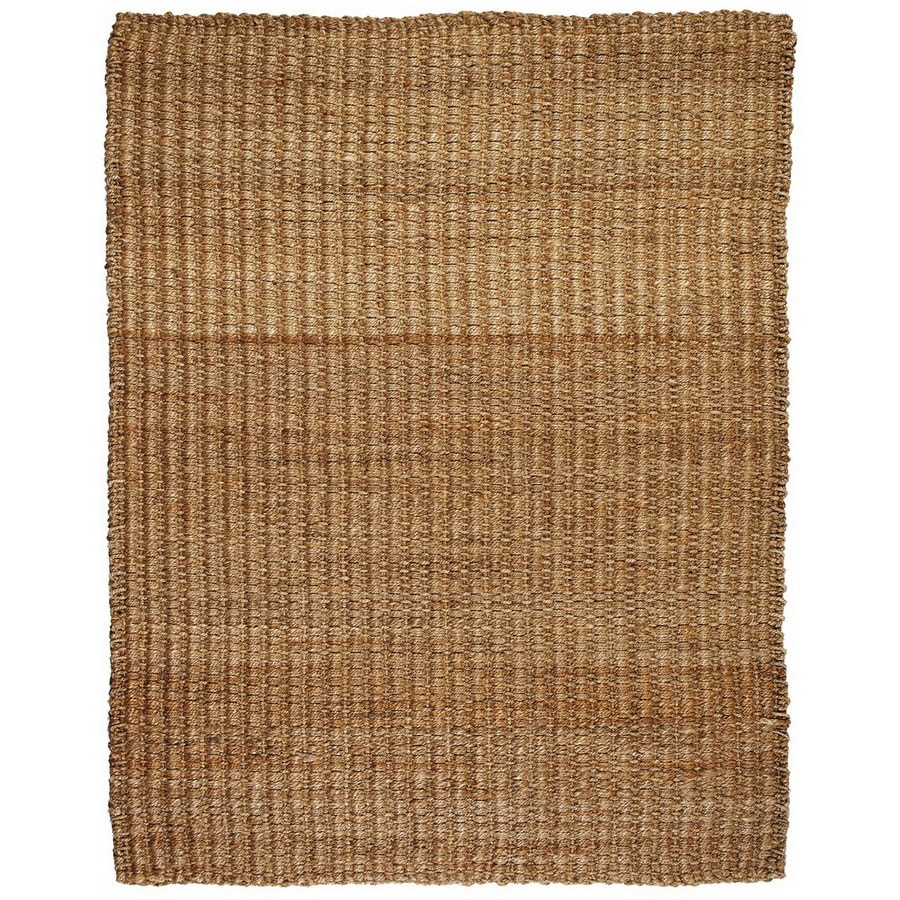 Anji Mountain River Sand Rectangular Indoor Woven Oriental Area Rug (Common: 5 x 8; Actual: 5-ft W x 8-ft L)
