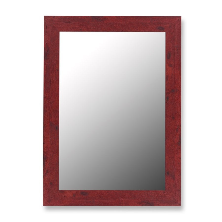 Hitchcock-Butterfield 34-in x 44-in Barn Red Beveled Rectangle Framed Wall Mirror