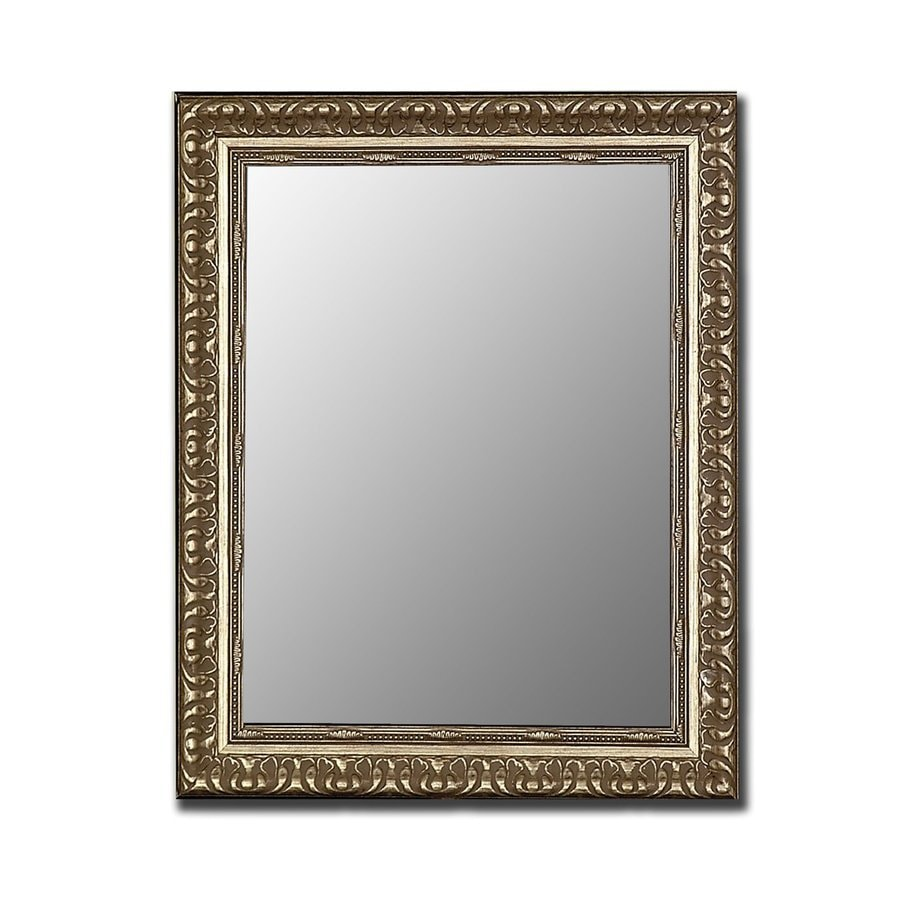 Hitchcock-Butterfield 35-in x 45-in Antique Silver Beveled Rectangle Framed Wall Mirror
