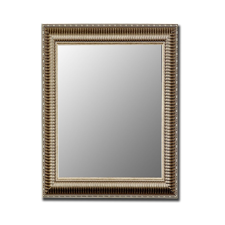 Hitchcock-Butterfield 17-in x 35-in Antique Silver Beveled Rectangle Framed Wall Mirror