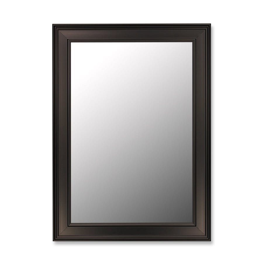 Hitchcock-Butterfield 27-in x 37-in Ceylon Black Beveled Rectangle Framed Wall Mirror