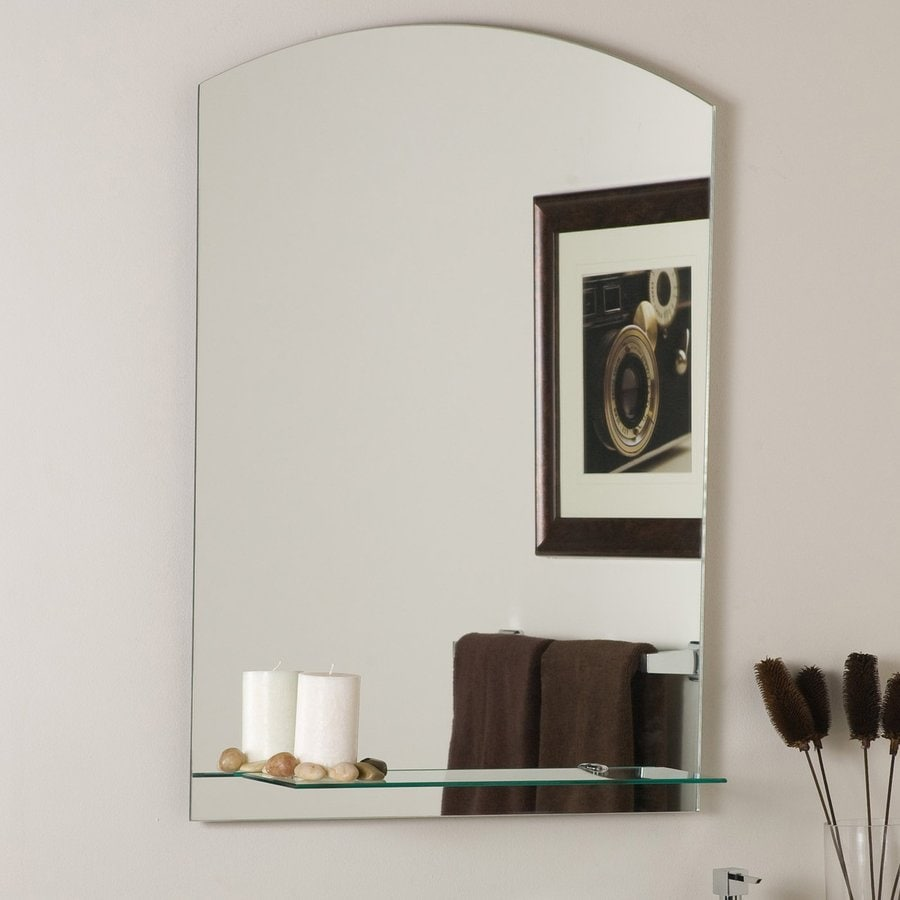 Decor Wonderland 23.6-in W x 31.5-in H Arch Frameless Bathroom Mirror with Hardware