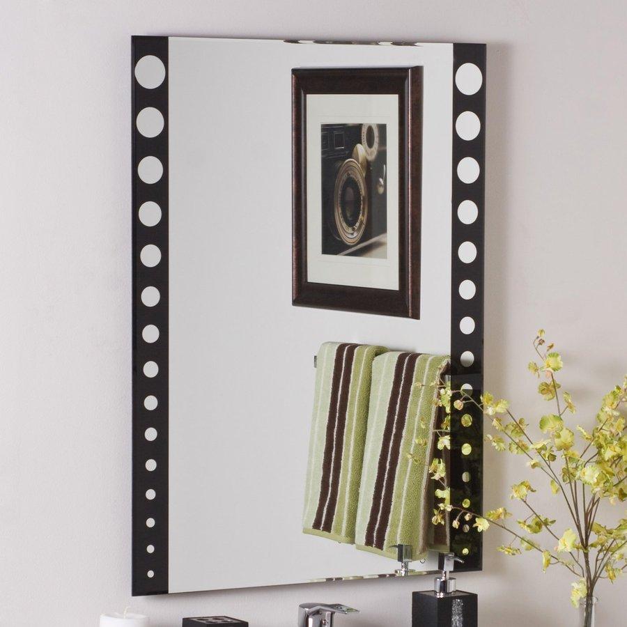 Decor Wonderland Santa Clara 23.6-in x 31.5-in Black Rectangular Framed Bathroom Mirror