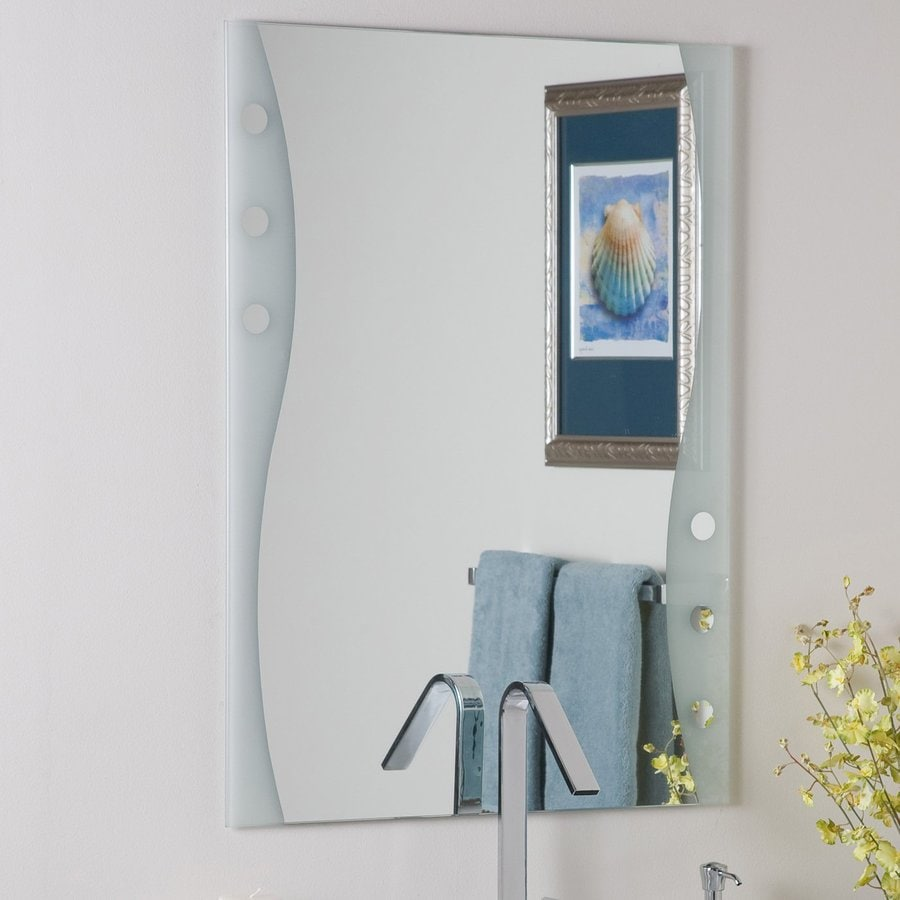 Decor Wonderland Maritime 23.6-in x 31.5-in Rectangular Frameless Bathroom Mirror