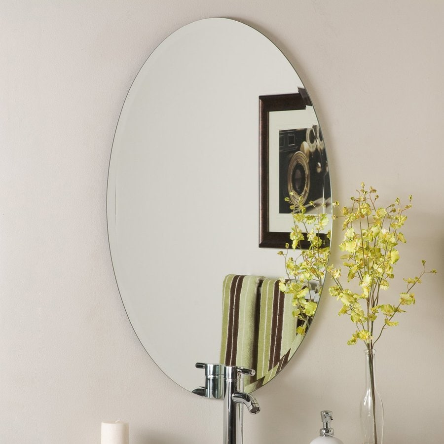 Decor wonderland 23 6 in oval bathroom mirror