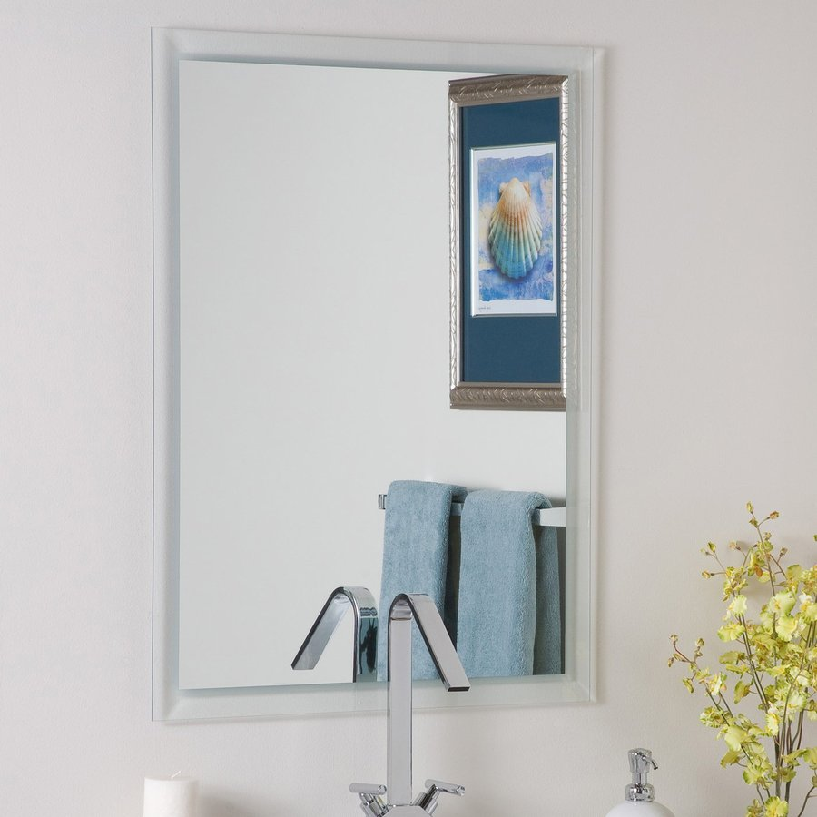 Shop Decor Wonderland Etch 23.6-in Rectangular Bathroom Mirror at ...