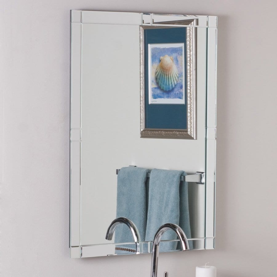 shop decor wonderland kinana 23 6 in x 31 5 in rectangular frameless bathroom mirror at. Black Bedroom Furniture Sets. Home Design Ideas