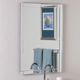 Decor Wonderland Kinana 236 In X 315 Rectangular Frameless Bathroom Mirror