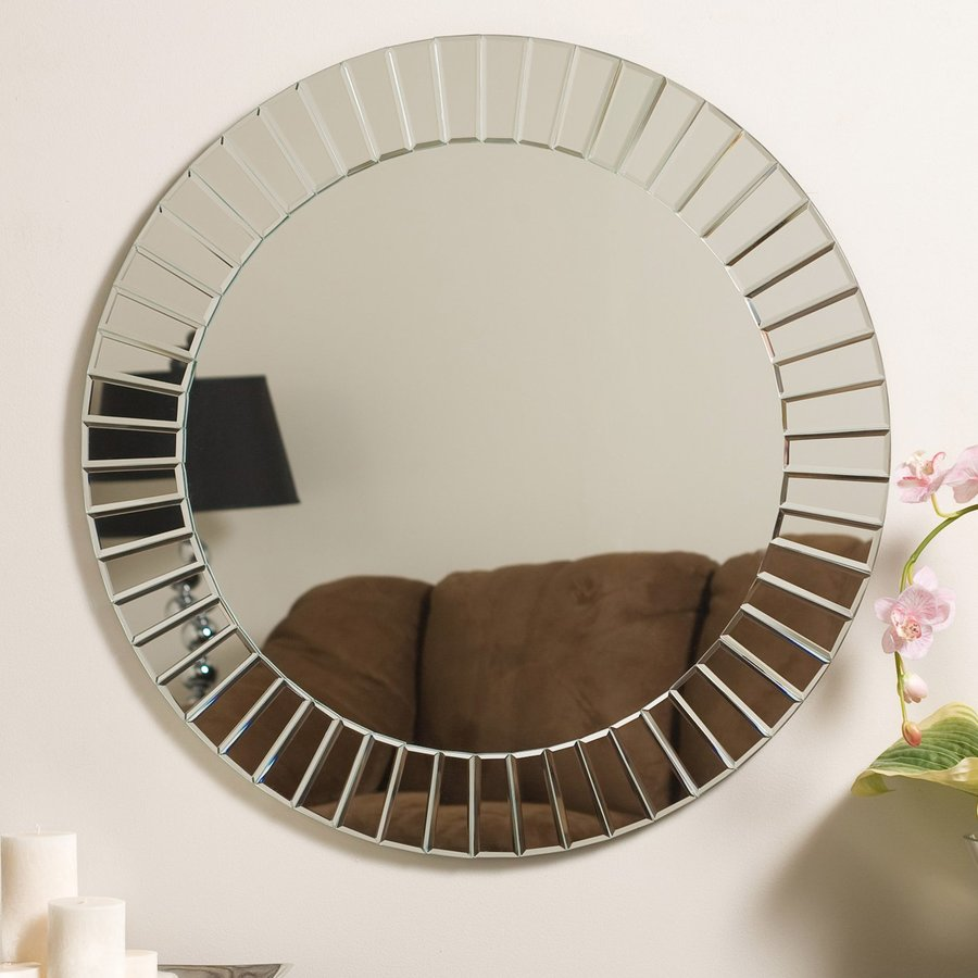 Decor Wonderland The Glow 27.6-in x 27.6-in Round Frameless Bathroom Mirror