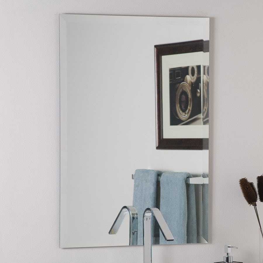 at home bath frameless with care oversized mirrors tag mirror bathroom wall tc lowes