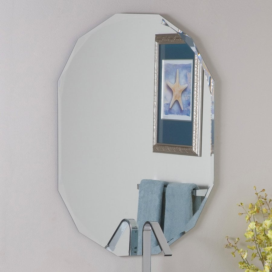 Shop decor wonderland diamond 23 6 in x 31 5 in oval for Bathroom decor mirrors