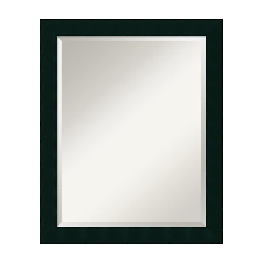 Amanti Art Tribeca 26.28-in x 32.28-in Black Beveled Rectangular Framed Wall Mirror